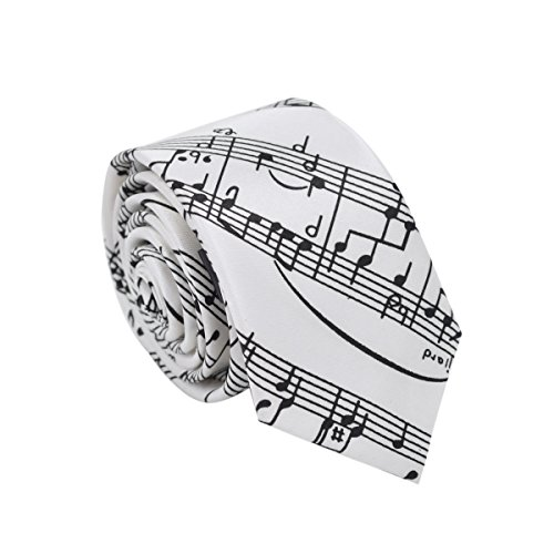 IvyFlair Men's Music Notes Jacquard Woven 2