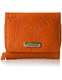 Buxton Rose Garden Accordion Zip French Purse, Mulberry Wallet