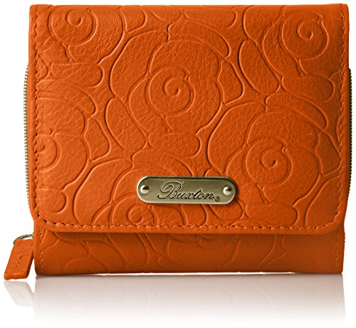 orange Garden Accordion Burnt Zip Buxton French Rose Purse 07xgwSP