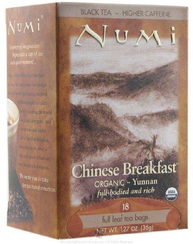 Numi Chinese Breakfast Yunnan Black Tea - 18 Tea Bags - Case Of - Chinese Tea Breakfast Numi