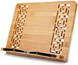 XL Large Size Bamboo Book Stand Cookbook Holder