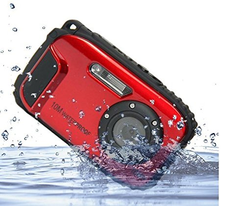 GordVE-PowerLead BP88 Camera Waterproof Digital Video Camera 2.7'' TFT Screen 5mp Underwater 9 Mega 8x Zoom Digital Camera-Red by GordVE