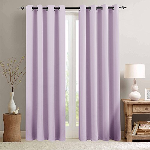 Lilac Blackout Curtains for Nursery Girls Room Darkening The