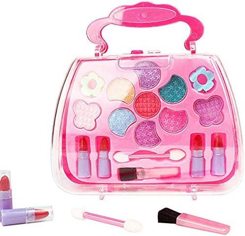 キッズメイクアップセット、子供の化粧品のおもちゃセットは、プリンセス化粧品の素敵なプレイメイクアップおもちゃの誕生日プレゼントのふりをします