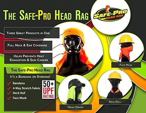- Safety Bandana, Head Cooling, Neck Protection, Sun Protection, UPF 50+