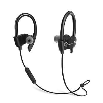 Auriculares Bluetooth, CHEREEKI auriculares inalámbricos bluetooth 4.1 deportivos estéreo con micrófono incorporado, CVC 6.0