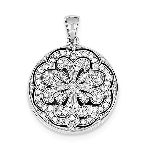 ICE CARATS 925 Sterling Silver Cubic Zirconia Cz Circle Flower Design Locket Pendant Charm Necklace Shaped Fine Jewelry Ideal Gifts For Women Gift Set From Heart Circle Shaped Locket