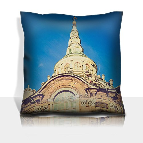 MSD Throw Pillowcase Polyester Satin Comfortable Decorative Soft Pillow Covers Protector sofa 16x16, 1pack IMAGE ID 27062675 Vintage looking Cappella della Sindone Holy Shroud chapel in Turin It by MSD