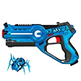 Best Choice Products Kids Infrared Laser Tag Toy Set w/ Moving Spider Target Robot, Multiplayer Mode - Blue