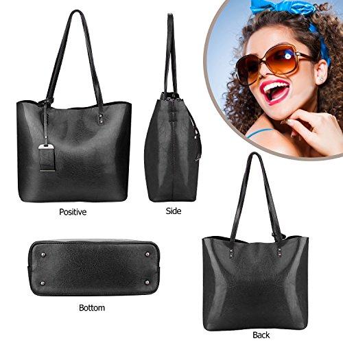 Handbags Messenger Black Bag Shoulder Top Handle Tote Women Satchel Bag Purse wqOtYF1