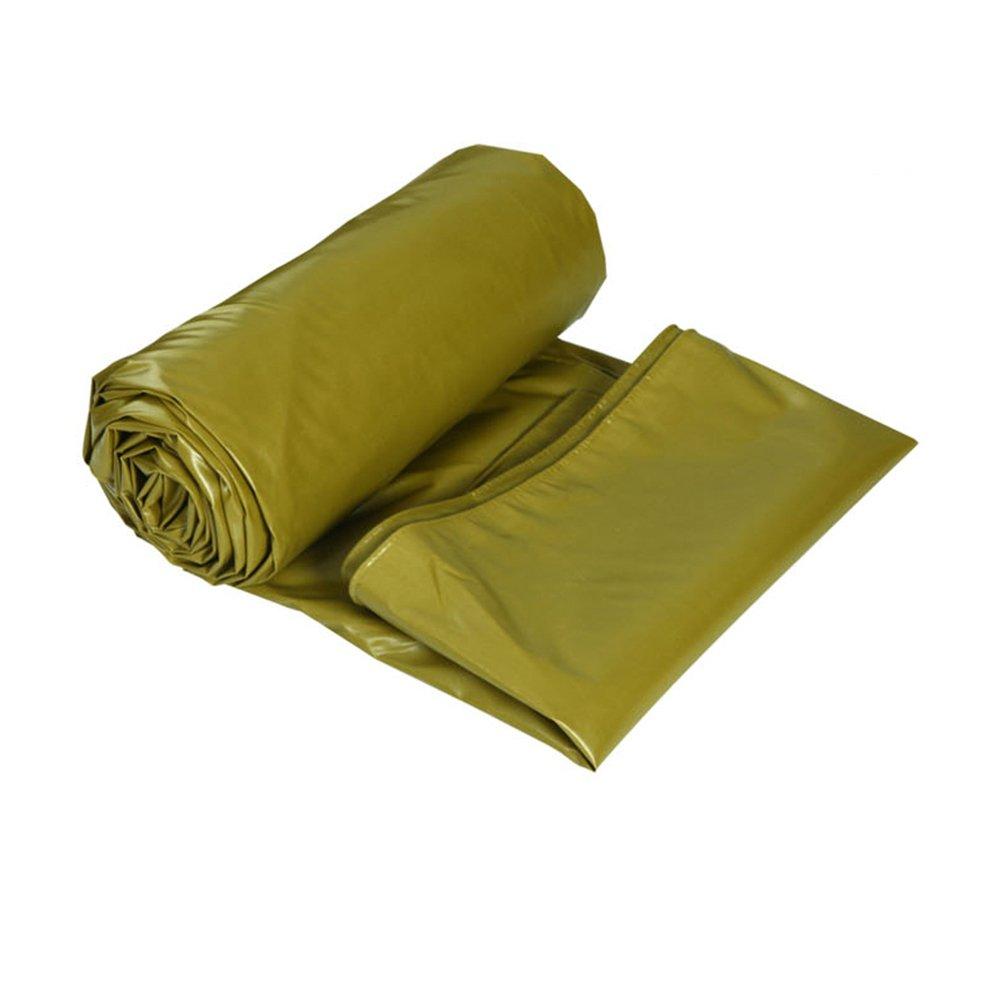 Army jaune 54m Bache YNN Auvent Anti-Pluie Double Face imperméable Anti-Pluie 520 g m² (épaisseur 0,5 mm) étanche (Couleur   vert, Taille   3  2m)