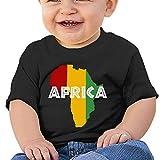 Africa Rasta On Black Newborn Baby Tshirt Boy Girl Shirts for 6-24 Month Tops
