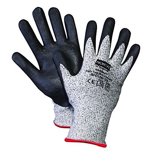 Honeywell Northflex Light Task Plus II Gray Dyneema & Black Bi-Polymer Coated Cut-Resistant Gloves, 13 gauge, Large (Bi Polymer Gloves)