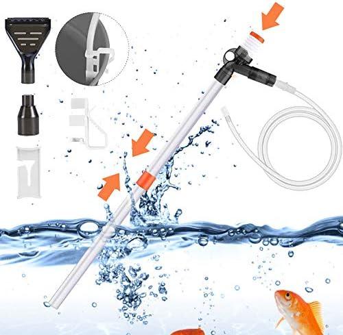 SAMMIU - Limpiador de Grava para Acuario con botón de presión de Aire para Cambiar el Agua, Lavar Arena, absorción de heces: Amazon.es: Productos para mascotas