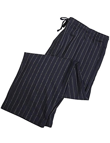 Majestic International - Mens Flannel Lounge Pant, Black 36870-XX-Large