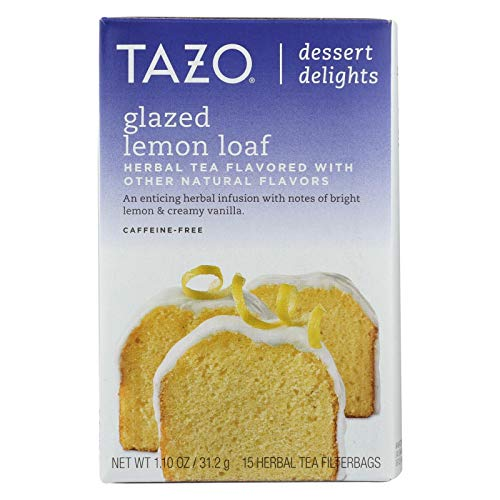 Lemon Tazo (TAZO TEA, Tea, Herbal, Glzd Lmon Loaf, Pack of 6, Size 15 BAG, (GMO Free Yeast Free))