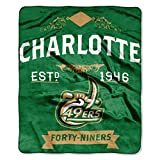 UNC Charlotte OFFICIAL Collegiate, Label 50 x 60 Raschel Throw