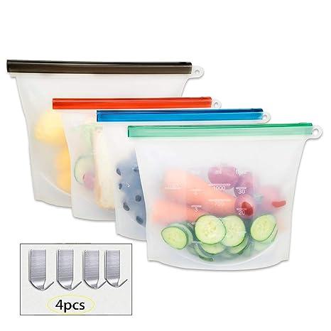 Amazon.com: YOSMO - Bolsas de silicona reutilizables para ...