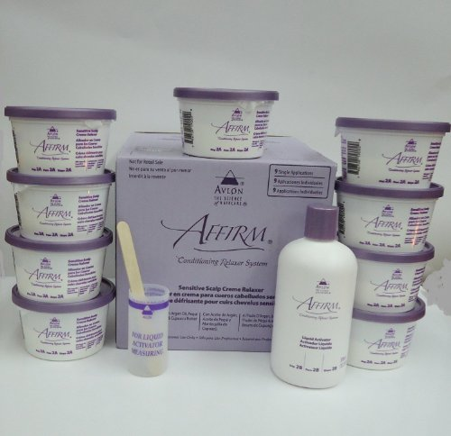 Avlon Affirm Sensitive Scalp Conditioning Relaxer (9 Single Applications) (Best Hair Relaxer For Thick Hair)