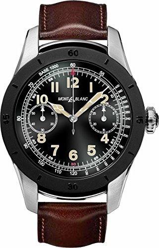 MontBlanc Summit Smartwatch 117536 Bi-color Steel Case with Brown Leather Strap