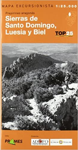 Mapa sierras de santo domingo, luesia y biel 1:25000 (Top 25