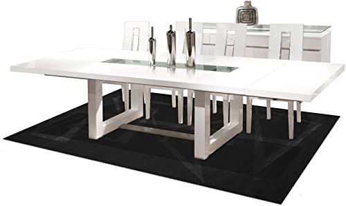 Sharelle Furnishings Novo Extendable White Lacquer Dining Table White Lacquer