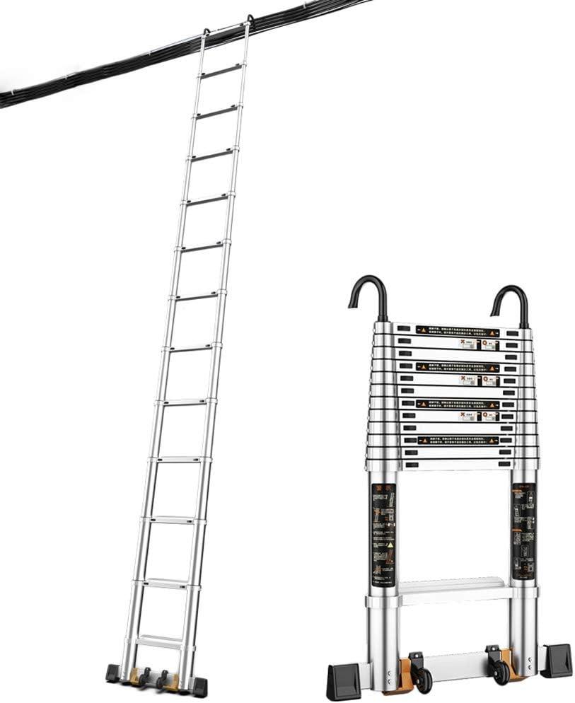 Escalera telescópica Aluminio Barra estabilizadora - Extra Alto Escalera de extensión para Home Loft Office, 1.8m / 2.5m / 3.2m / 3.9m / 4.6m / 5.3m (Size : 3.2M/10.5ft): Amazon.es: Hogar