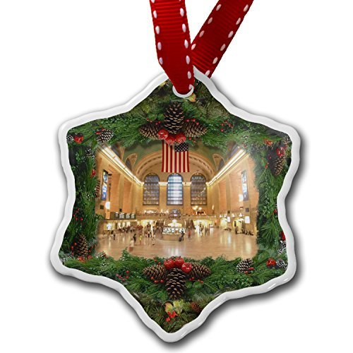 Christmas Craft Tree Decorations Grand Central Station New York Nyc Christmas Ornament Custom Xmas Gift Grand Central Station Nyc Christmas