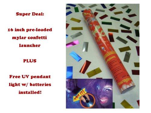 Disposable Confetti Launcher w/ Free UV Light