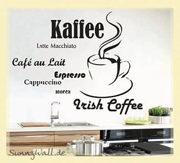 Wandtattoo Küche Tasse Espresso Kaffee Cappuccino Mocca Größe: Größe ...