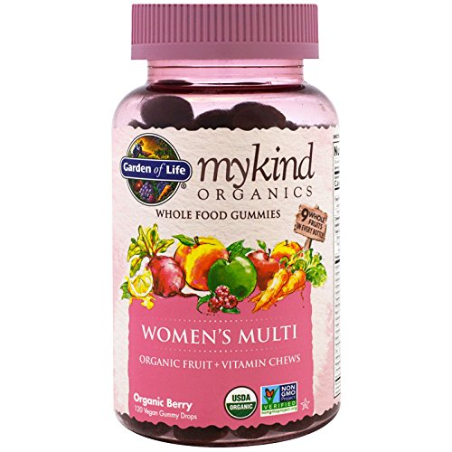 (Garden of Life, Mykind Organics, Women's Multi, Organic Berry, 120 Gummy Drops)