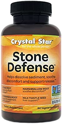 Crystal Star - Kidney Care - Helps Prevent Kidney Stones from Forming- 60 Vegetarian Capsules - previously named Stone Defense