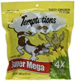 "Temptations Cat Treats, Tasty Chicken Flavor, 12 oz""Super Mega"" Bag"
