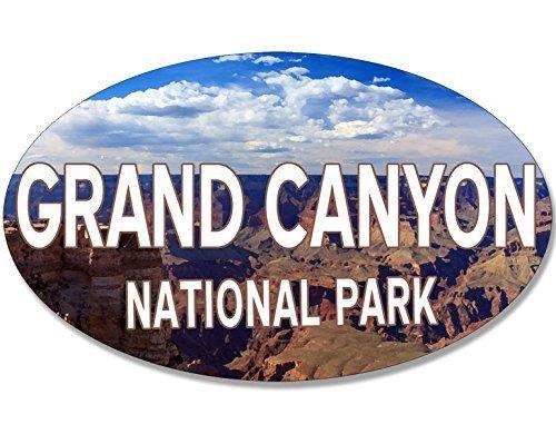 (OVAL Grand Canyon National Park Sunset Bumper Sticker (gcnp arizona))