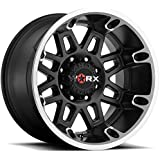 Worx 811U Conquest Satin Black with Diamond Cut Accents Wheel with Painted Finish and 36 (20 x 9. inches /8 x 180 mm, 18 mm Offset)