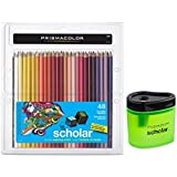 Prismacolor Scholar Colored Pencils 48 Assorted Colors (92807) + Prismacolor Scholar Colored Pencil Sharpener (1774266)