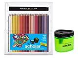 Prismacolor Scholar Colored Pencils 48 Assorted Colors (92807) + Prismacolor Scholar Colored Pencil Sharpener (1774266)