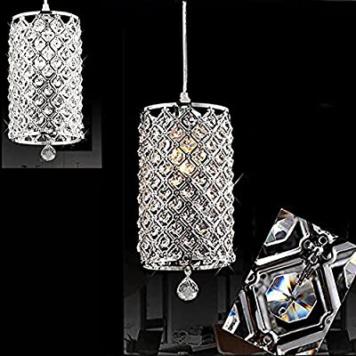 dtemple Crystal Ceiling Light Pendant Lamp Fixture Lighting Chain Chandelier for Living Room Bed Room Dining Room