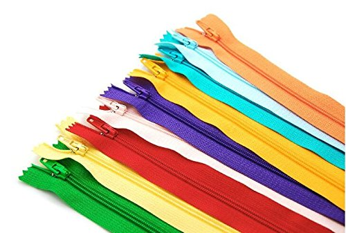 100 pcs Mix Color Nylon Coil Zippers Tailor Sewing Tools Garment Accessories 9 Inch (Husqvarna Bobbin Case compare prices)