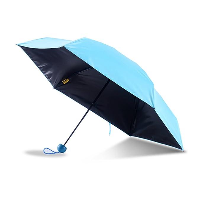 lifyhgf Paraguas Mini Cápsula Plegable Sombrilla De Viaje Paraguas Mini Anti-ultravioleta Paraguas Su Compañero