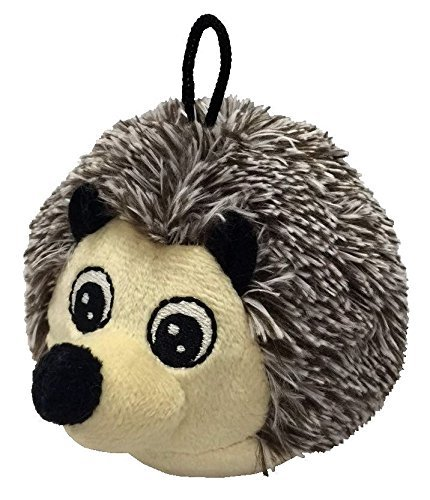Image of 4 Inch Ez Squeaky Hedgehog Round Dog Toy By Petlou