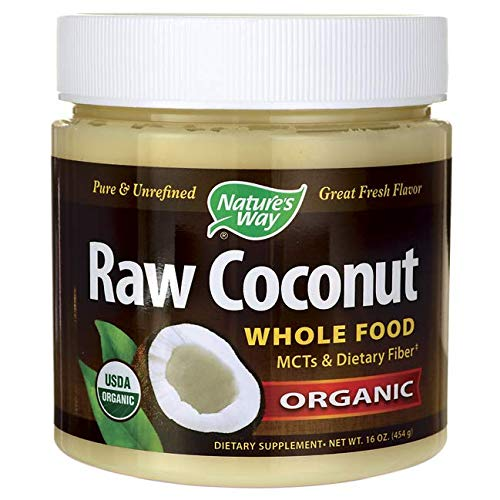 (Nature's Way Raw Coconut Whole Food Pure & Unrefined Cold Pressed Organic, 16 Oz., 16 Fluid Ounce)
