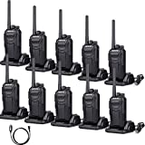 Case of 5 Pack,Retevis RT27 2 Way Radios Walkie Talkies Vox Scrambler FCC Certification License-free Security Two way radio(Black,10 pack) and Programming Cable