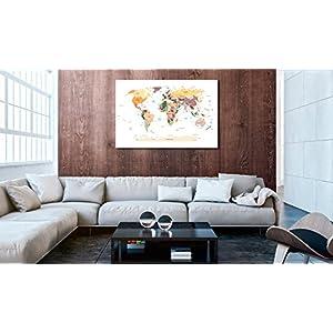 murando Tablero De Corcho & Cuadro en Lienzo 90×60 cm No Tejido XXL Estampado Memoboard Decoración De Pared Impresión Artística Fotografía Gráfica Poster Mapamundi k-B-0010-p-b