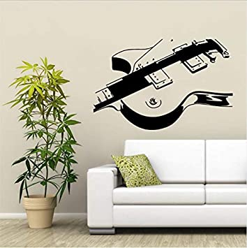Fandhyy Guitarra eléctrica Etiqueta de La Pared Musical Vinilo Arte Mural de la Pared Home Decorativo Decoración de La Habitación Mural 88X59Cm: Amazon.es: ...