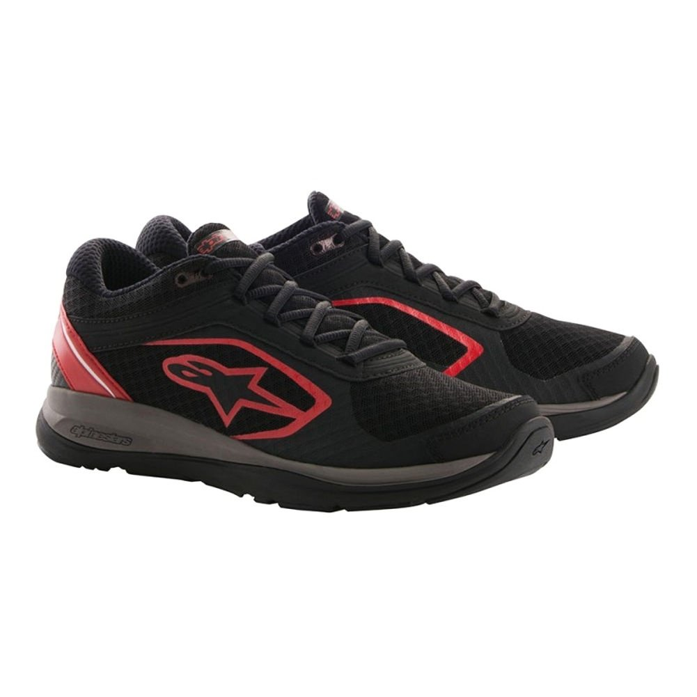 Alpinestars Alloy Sport Mens Motorcycle Riding Shoes - Black/Red - 11.5