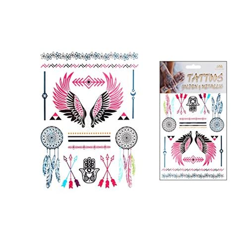 Tattoo Bijou Body Sticker Couleur Ailes Indien Main De Fatma