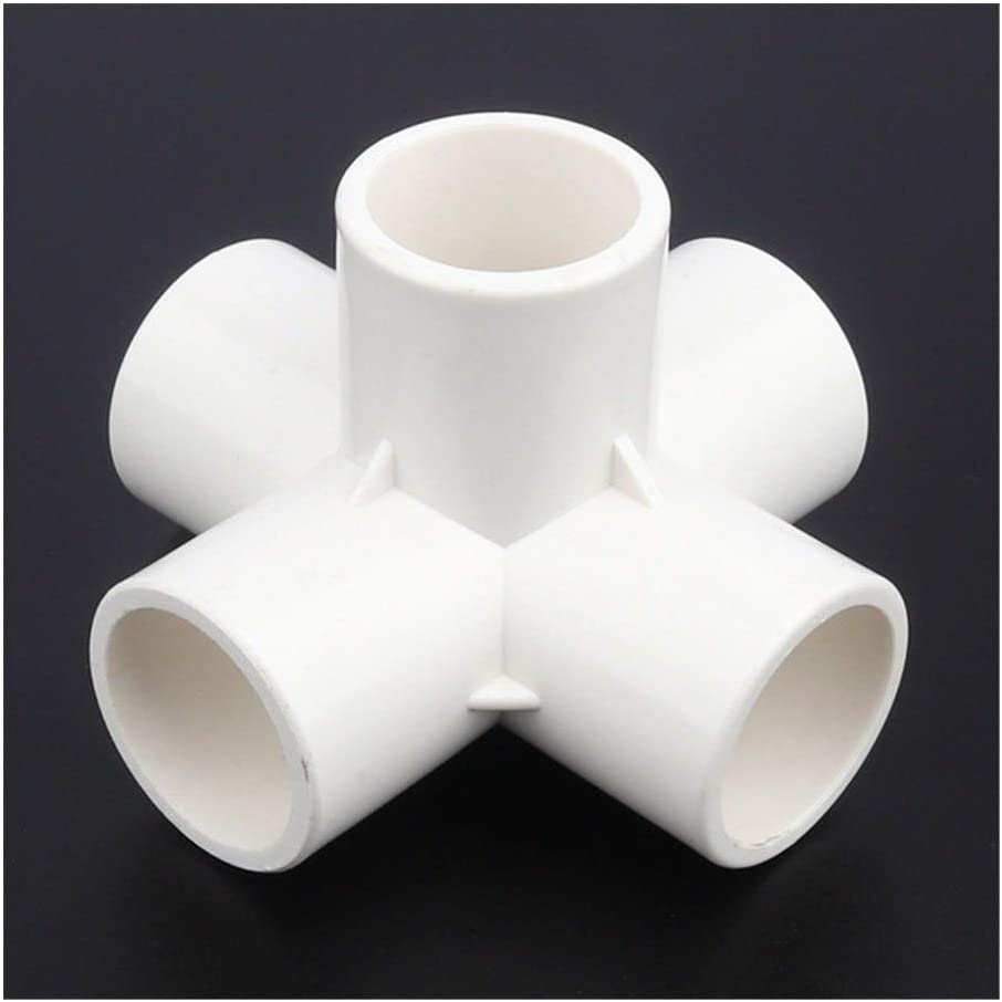 25mm PVC Connector Stereoscopic 5Ways Garden Irrigation System Aquarium Tank Socket Tube Adapter Water Pipe Connectors DTY Tools Color : White Stereo 5 Ways, Diameter : 24pcs