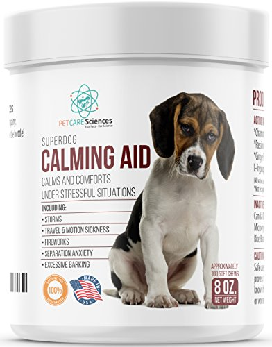 PET CARE Sciences Calming Treats for Dogs, Separation, Travel, Excessive Barking, Stress, Dog Anxiety Relief -