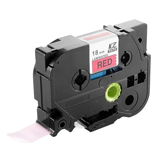 Negro en la cinta de etiqueta de cinta etiqueta roja color de la ...